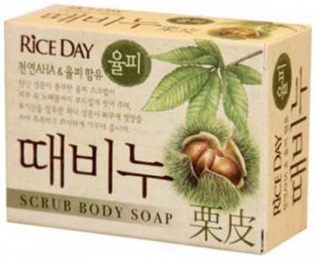 CJ Lion Mыло-скраб для тела Rice Day Каштан и мёд 100 г