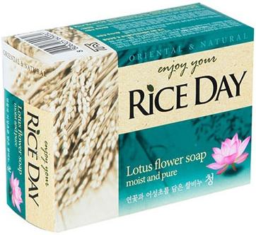 CJ Lion Rice Day Mыло туалетное с Лотосом и Хауттюйнией 100 г