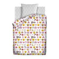 """Детское постельное белье """"Смайлы пинк"""", рис.8908+8909 (Emoji)"""
