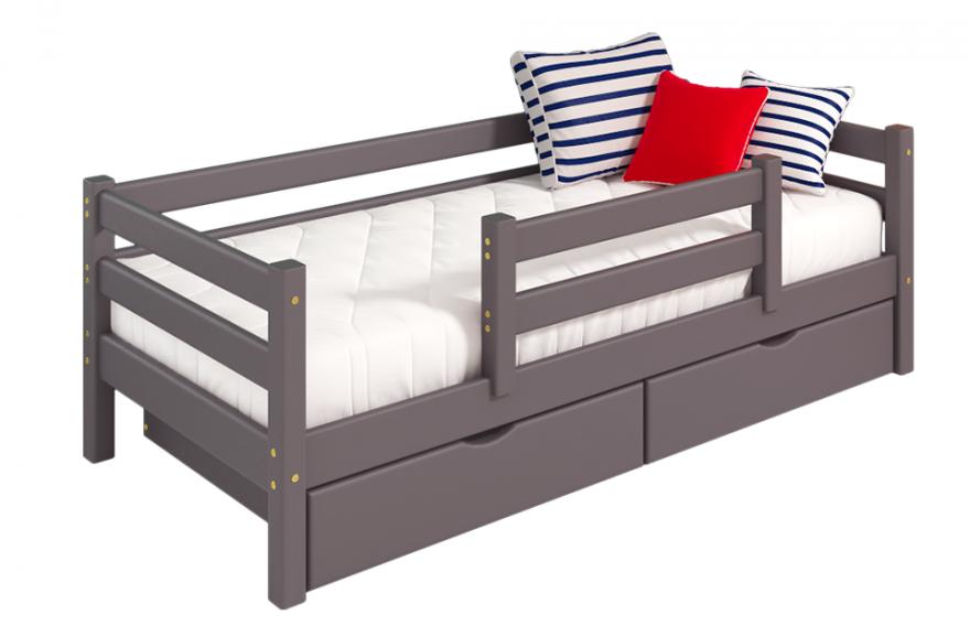 """Вариант 4 Кровать """"Соня"""" Лаванда с защитой по центру МебельГрад"""
