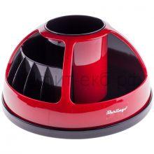 Подставка настольная Berlingo BR черный/красный MOn00073