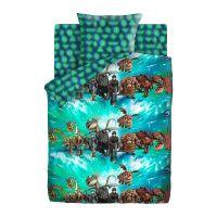 """Детское постельное белье """"Викинги и драконы"""", рис.16127-1-16128-1 (Как приручить дракона Neon)"""