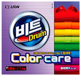 CJ Lion Стиральный порошок Beat Drum Color для цветного белья автомат коробка 2,5 кг