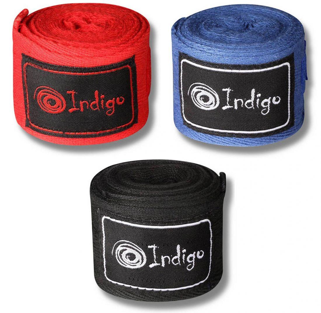 Бинт боксерский INDIGO 1115 х/б 2.5м 2шт
