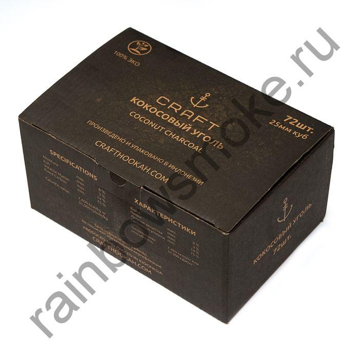 Уголь кокосовый для кальяна Craft 25мм (72шт)