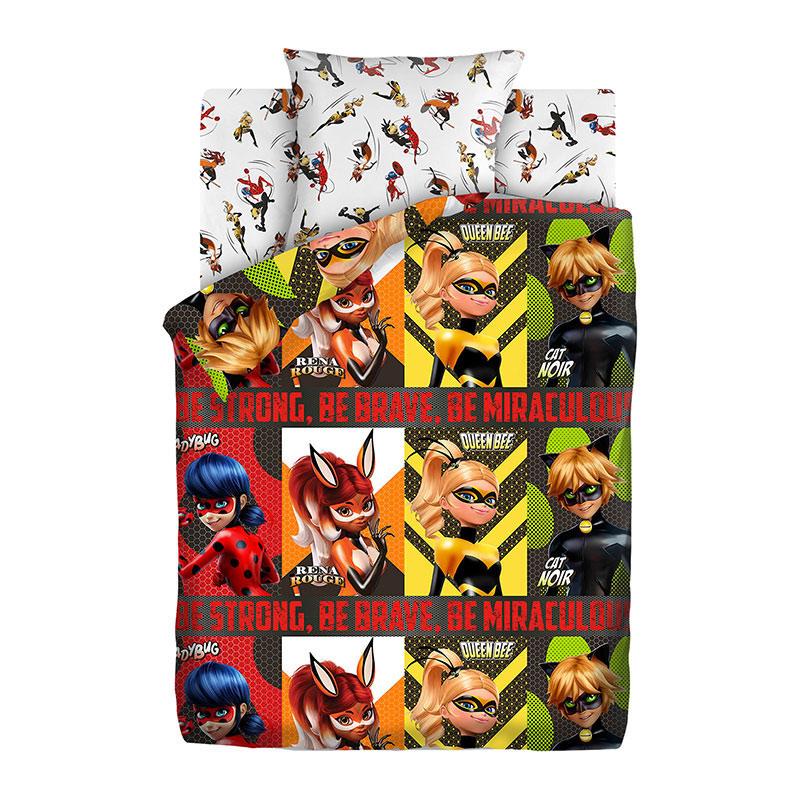 """Детское постельное белье """"Супергерои"""", рис.16093-1/16094-1 (LadyBug), 1.5сп."""