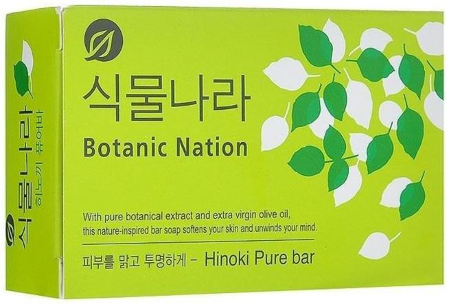 CJ Lion Мыло туалетное Botanical Nation экстракт японского кипариса 100 г * 3 шт