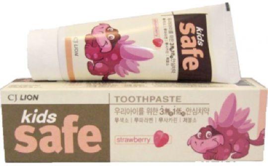 CJ Lion Kids Safe Зубная паста детская Клубника 90 г