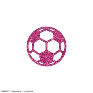 `Вырубка ''Патч Футбольный мяч, 50*50 мм'' , глиттерный фоамиран 2 мм