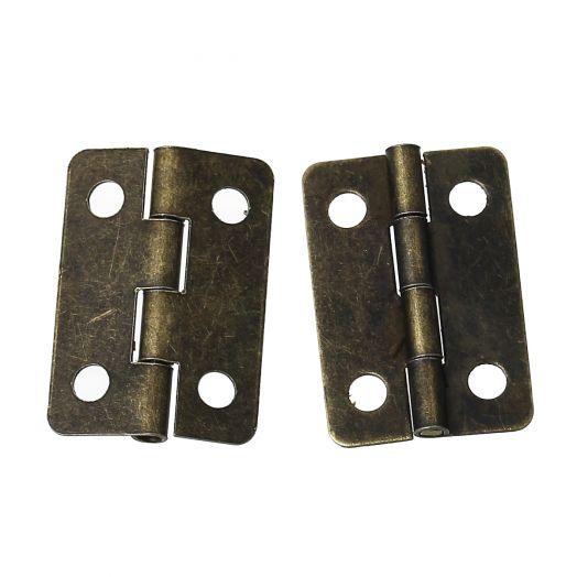 Петля для шкатулки, бронза, 22*16 мм, 2 шт/уп