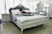 Кровать БАРОККО 160*200 с подъемным механизмом эмаль