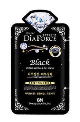 BeautyΝri Rearar Dia Force Black Гидрогелевая маска для лица с древесным углем
