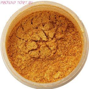 Сухой блестящий краситель Летнее золото   5г. Food Colours