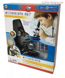 """Серия """"Познай мир"""" 21352 Микроскоп (набор, 23 предмета, черный)"""