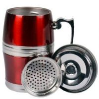 Стальная термокружка Green Tea Stainless Steel Wear, 380 мл, цвет красный (2)