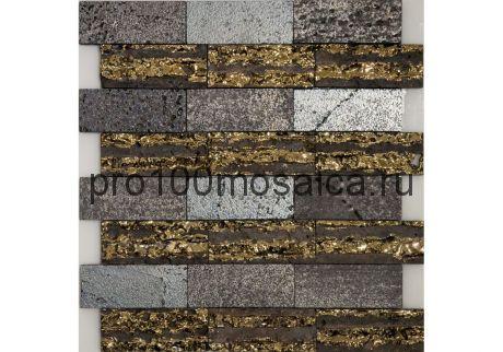 Декор LAVA STRIPE. Мозаика серия LAVA, размер, мм: 300*320*12 (ORRO Mosaic)