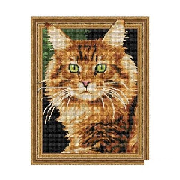 Набор 3D мозаика Рыжий кот с рамкой 40*50 см