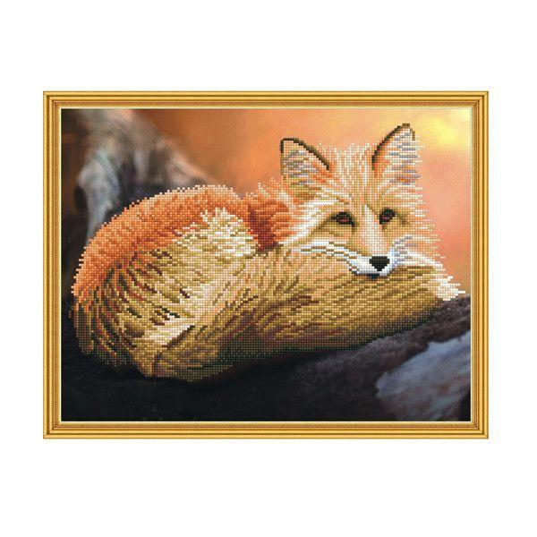 Набор Алмазная мозаика Рыжий лис с рамкой 40*50 см