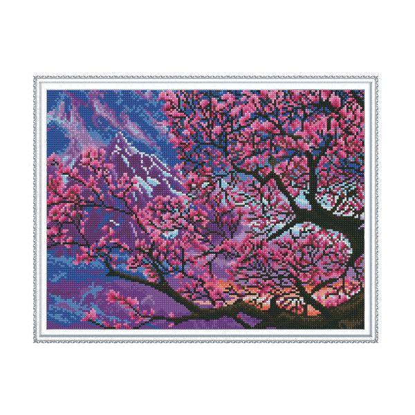 Набор Алмазная мозаика Сакура в цвету с рамкой 40*50см