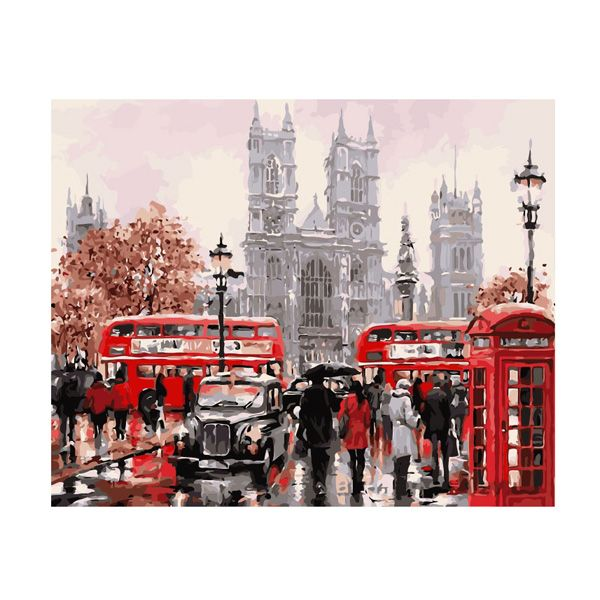 Картина по номерам Лондонский транспорт 40*50см