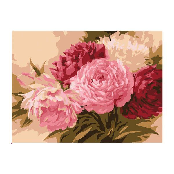 Картина по номерам Оттенки розового 15*20см