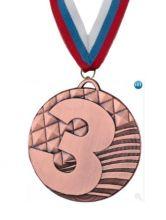 Медаль Атланта наградная с лентой 3 место 50 мм