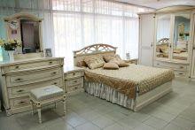 Кровать ЭЛЕГАНЦА 180*200 с подъемным механизмом эмаль