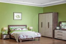 Спальня МАРТЕЛЬ-2 дуб шамони 4-дверный шкаф