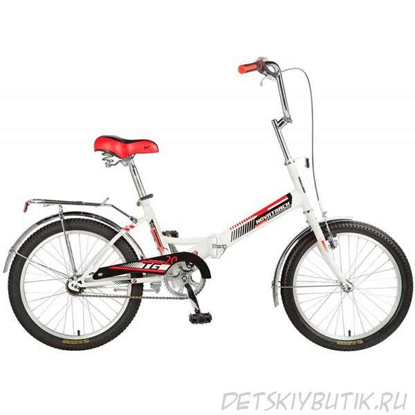 """Велосипед детский складной NOVATRACK TG-20 CLASSIC 20"""" (2017), белый"""