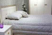 Спальня НАОМИ ваниль с золотой патиной 3-дверный шкаф