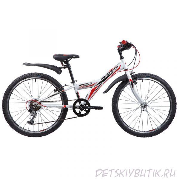 """Велосипед детский NOVATRACK RACER 24"""" (2019), белый"""