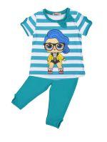 Костюм для девочек 3-7 лет Bonito BK1190KP голубой