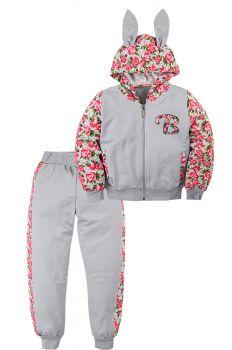 Спортивный костюм для девочек 3-7 лет Bonito BK1145P серый
