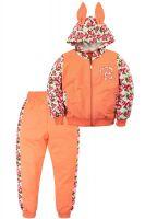 Спортивный костюм для девочек 3-7 лет Bonito BK1145P оранжевый