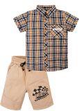 Костюм для мальчика 2-5 лет рубашка и шорты Bonito бежевый