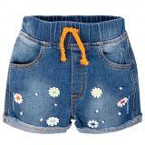 Джинсовые шорты для девочек Bonito Jeans с цветочками