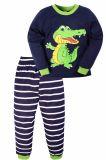 Пижама для мальчика Bonito темно-синяя с крокодилом