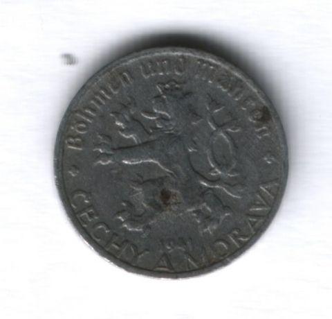 10 геллеров 1941 года Богемия и Моравия (Чехия)
