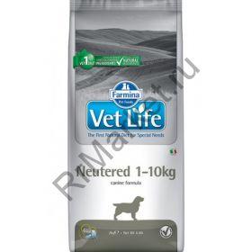 Farmina Vet Life Dog Neutered +10kg - корм для стерилизованных собак >10кг