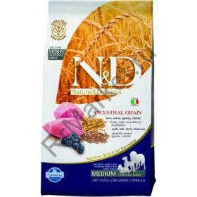 Farmina N&D Low Grain Lamb & Blueberry Adult - корм для взрослых собак с ягненком и черникой