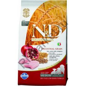 N&D Low Grain Chicken & Pomegranate Puppy - корм для щенков беременных и кормящих собак с курицей и гранатом
