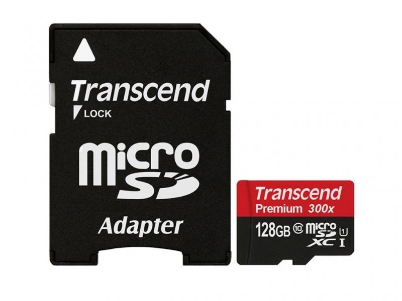 Карта памяти microSD Transcend 128Gb Class 10