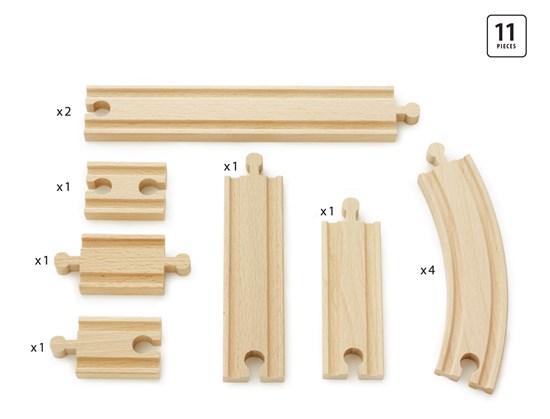 BRIO Ж/д полотно, базовые элементы, длина деталей от 5,4 до 21,6 см