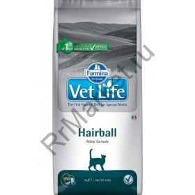 Farmina Vet Life Cat Hairball-выведение комочков шерсти из кишечника.