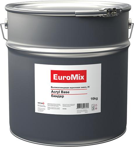 EuroMix Эмаль 2К высокоглянцевая акриловая Acryl Base, биндер, 16кг.