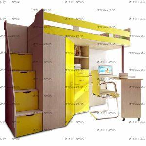 Кровать-чердак Фанки Соло-1