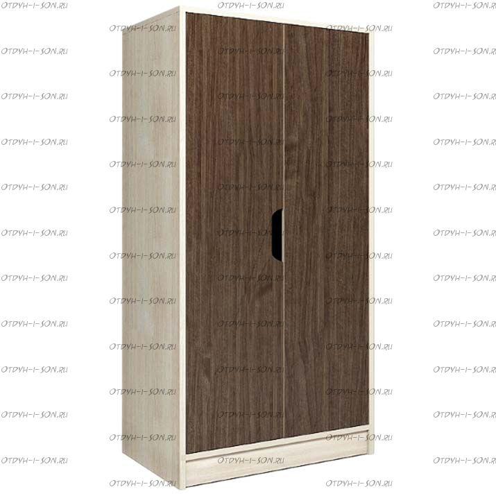 Шкаф 2-х дверный низкий Фанки Кидз 23/4 (60х52х131)