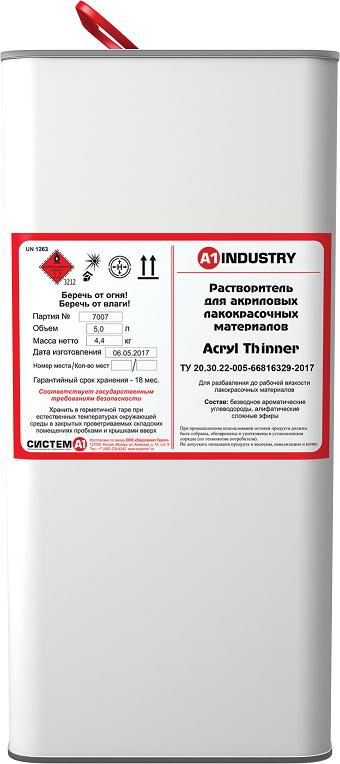 EuroMix Разбавитель Acryl Thinner (для акрил + ПУ), 5л.