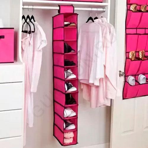 Подвесной органайзер для обуви на 10 полок Hanging Storage Shoes