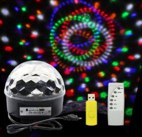 Диско шар Magic Ball Light MP3 с флешкой (светомузыка)